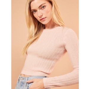 Reformation Cashmere Crew - Dusty Rose